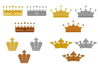 王冠のマーク素材