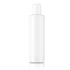 White tubular bottle template.