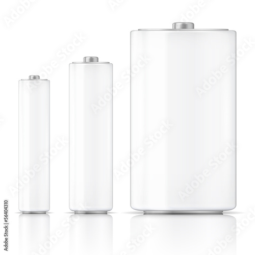 White battery template.