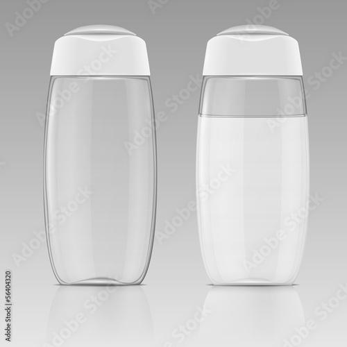Clean shampoo bottle template. - 56404320