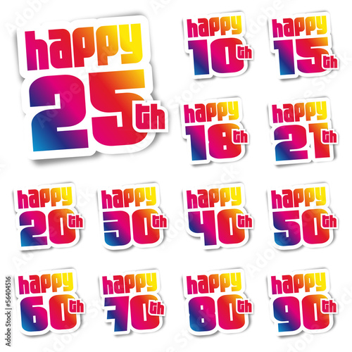Happy birthday - stickers