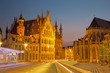 Leuven - Gothic town hall and st. Peters cathedral