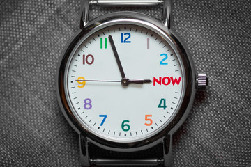 Colorful Watch Shows 'Time is Almost Now'