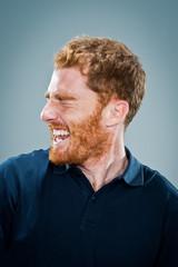 Mature Happy Man Laughing