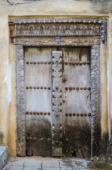 traditional door in Stone town
