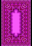 Refined oriental carpet in purple shades