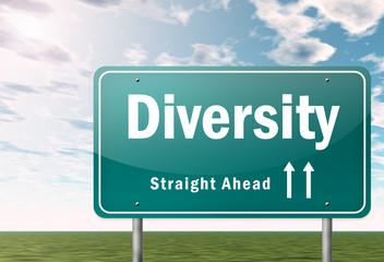 """Highway Signpost """"Diversity"""""""