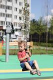 Toddler at cableway