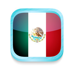 Smart phone button with Mexican flag