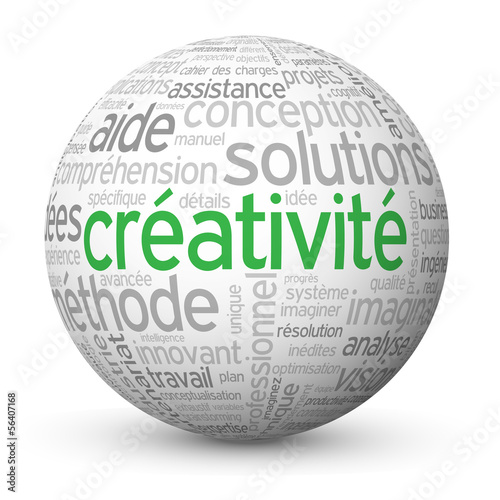 "Globe - Nuage de Tags ""CREATIVITE"" (idée innovation imagination)"