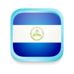 Smart phone button with Nicaragua flag