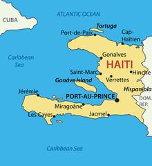 Republic of Haiti - vector map