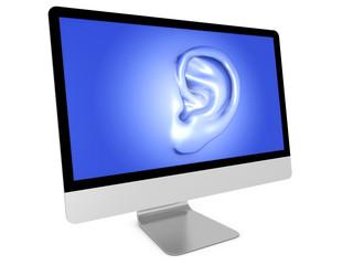 Monitor mit Ohr