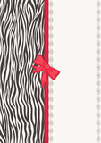Invitation card with zebra texture
