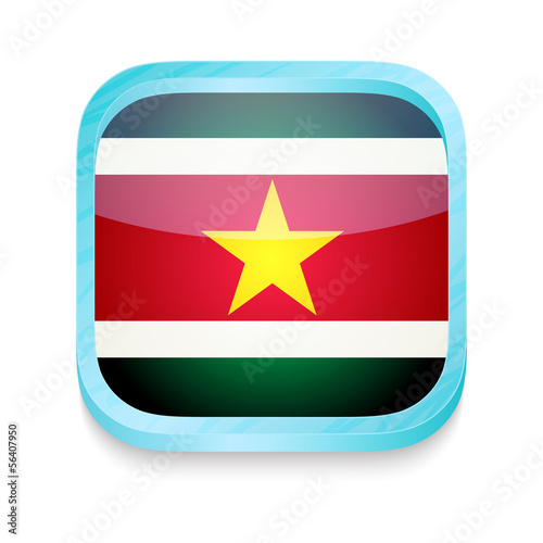 Smart phone button with Suriname flag