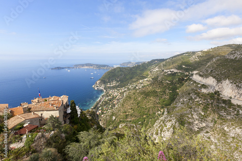 Eze Village on a hill, south of France