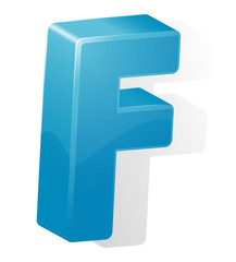letter F. ABC. Vector.