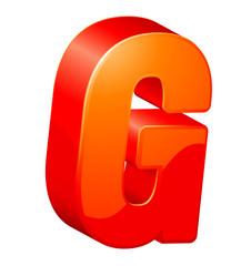 letter G. ABC. Vector.