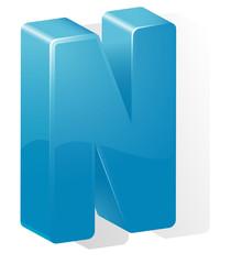 letter N. ABC. Vector.