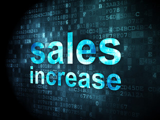 Advertising concept: Sales Increase on digital background