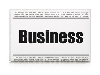 Business news concept: newspaper headline Business