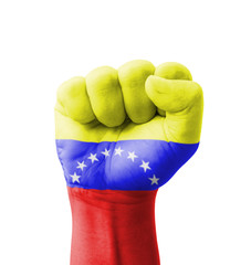 Fist of Venezuela flag painted, multi purpose concept