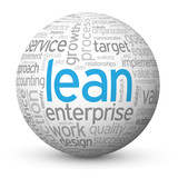 """LEAN"" Tag Cloud Globe (quality process improvement efficiency)"