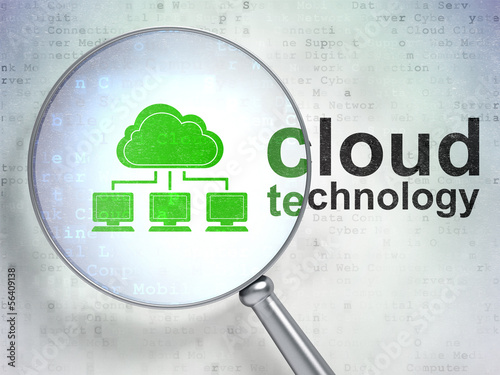 Cloud technology concept: Cloud Network and Cloud Technology wit
