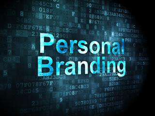 Marketing concept: Personal Branding on digital background