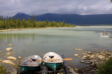 Landschaftsfoto in schwedisch Lappland