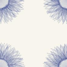 Tuile florale avec le tournesol