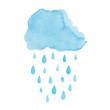 Watercolor rainy cloud - 56410123