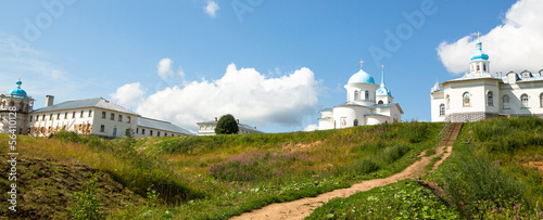 Panorama of Intercession monastery of Tervenichi, Russia