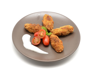 Ration of Croquettes, typical Tapa of Spanish Cuisine
