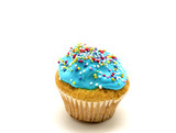 cupcake with blue cream
