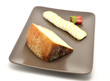 Pecorino di Pienza, italian sheep cheese and sliced camembert