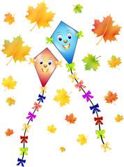 2 Herbstdrachen