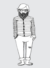 Hipster people graphic concept