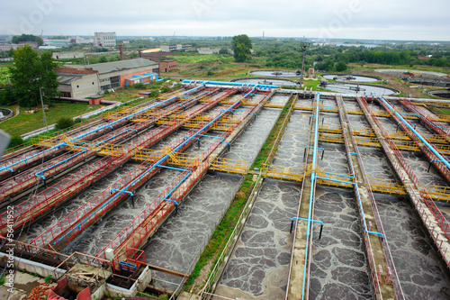 Fotobehang Kanaal sewage treatment plant