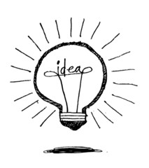 concept of  idea bulb  icon
