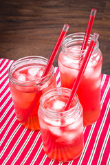 Cold drinks in mason jars