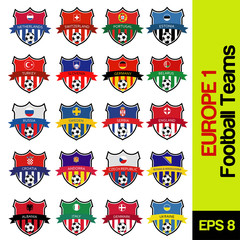 football emblems of european countries