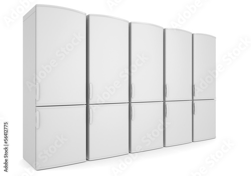 White refrigerators