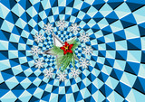 Christmas and optical illusion