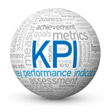 """KPI"" Tag Cloud Globe (targets key performance indicator kpis)"