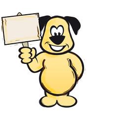 Hund mit Hinweis-Schild AI EPS PDF