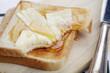 Toast mit Butter und Honig