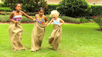Multi Ethnic Children Fun Races