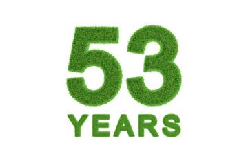 53 Years eco-friendly anniversary celebration