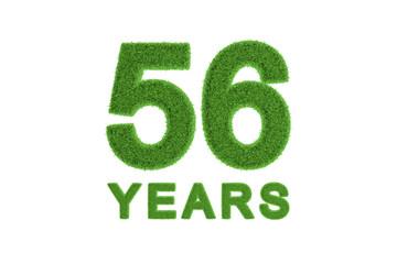 56 Years eco-friendly anniversary celebration